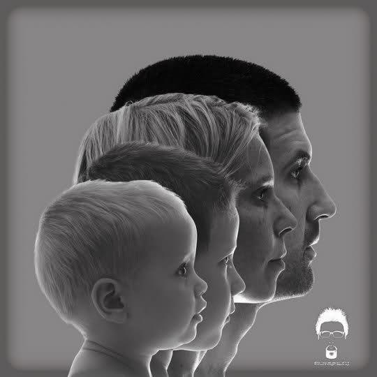 cute family portrait idea