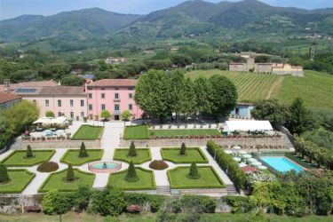 The villa is set  in a lovely area of Lucca hilly country side surrounded by olive groves and vineyards, few km from Lucca. It is part of an old convent of Cappucini monks who have not lived there for a long time,it is attached to an old 1600 villa, which, in the old days, was donated to the monks