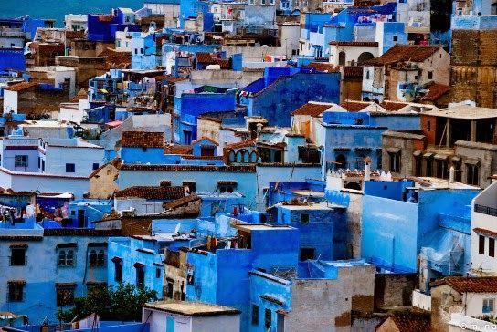 Chauen, Xauen o Chefchauen. Marruecos.