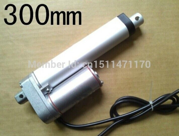 Cheap Envío gratis Heavy Duty 24 V / Stroke 300 mm = 12 pulgadas / 600N = 60 KG lineal actuador eléctrico, ventanas DIY tubular motor de elevación, Compro Calidad Motor DC directamente de los surtidores de China:                                                                                     Especificaciones: