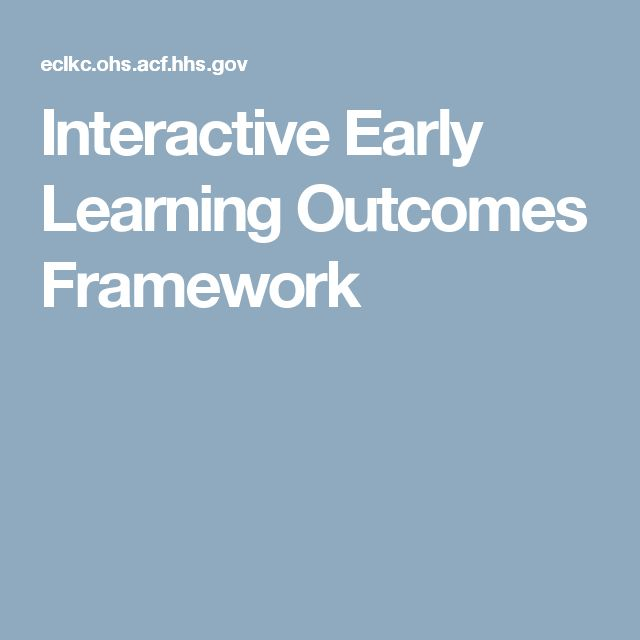 Interactive Early Learning Outcomes Framework