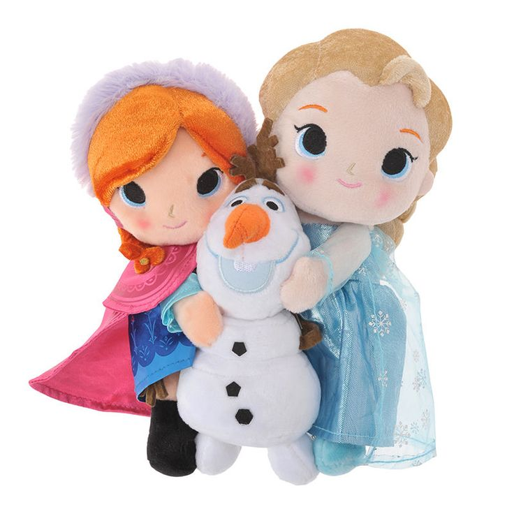 Frozen Plush Doll Stuffed ☀︎ Disney Store Japan ☀︎ Princess Elsa Anna Olaf Toy