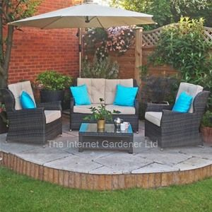 This Maze Rattan High Back Garden Sofa Set gives a good amount of back support whilst also looking fabulous.
