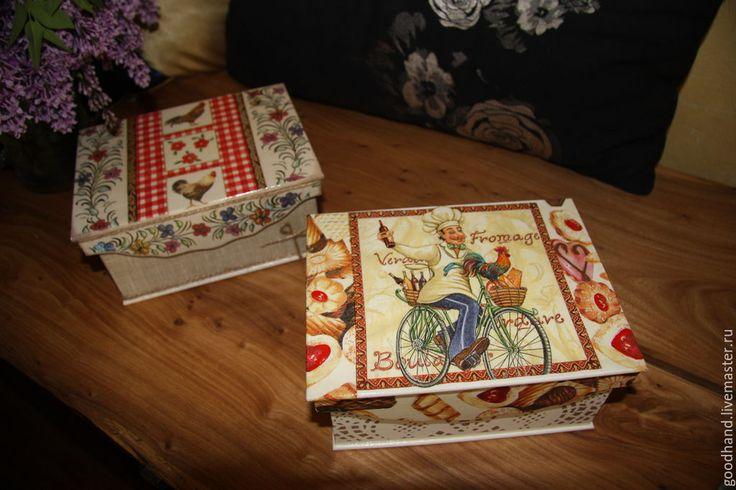 """Купить Коробочка """"Сладкая погуляйка"""" - разноцветный, кухонная утварь, коробочка для мелочей, хранение чая"""