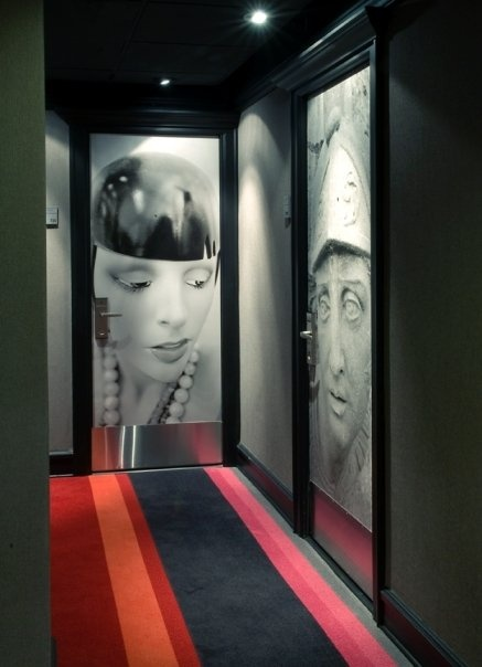 Hotel Max in downtown Seattle has room doors that are works of art.