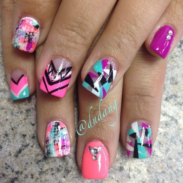 Colorful Nail Art: Best 25+ Funky Nails Ideas On Pinterest