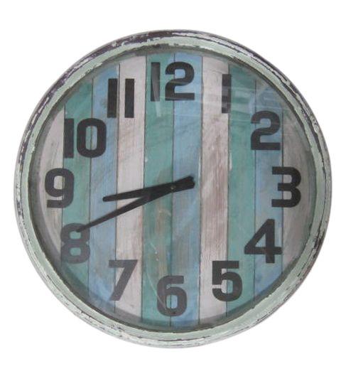 earth de fleur homewares rustic wooden beach decor wall clock wall clocks pinterest. Black Bedroom Furniture Sets. Home Design Ideas