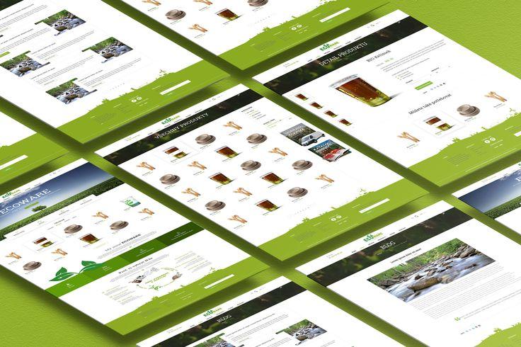Webdesign pro společnost ECOWARE která se zabývá výrobou a distribucí ekologických obalů vyrobené z kukuřice