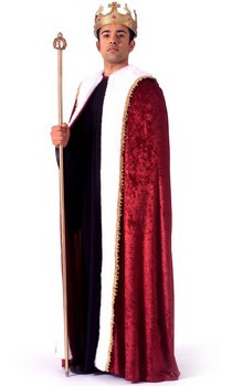 King Robe Adult Costume-- if Big Daddy flies in for the shoot, this one is appropriate