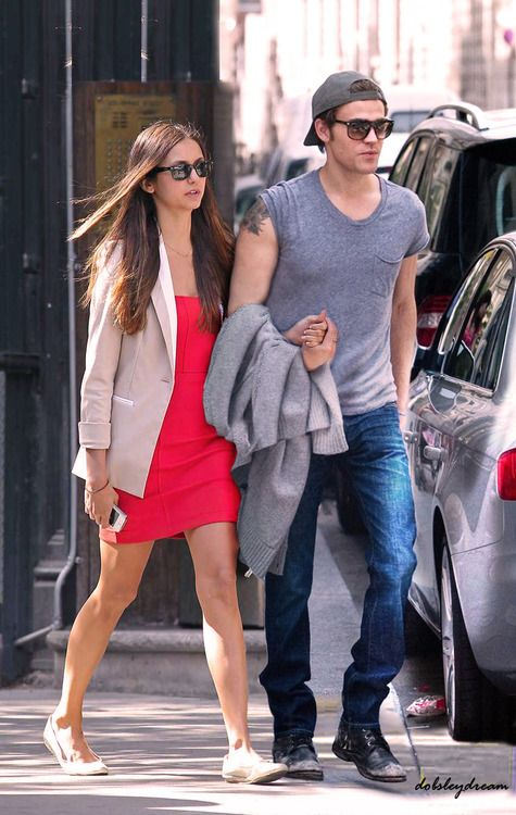 nina dobrev and paul wesley on set  | Paul and Nina - Paul Wesley and Nina Dobrev Photo (31826829) - Fanpop ...