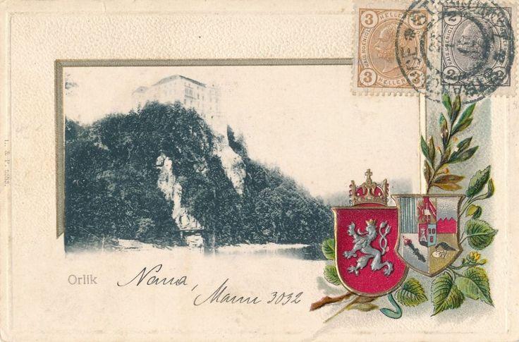Czech Republic-ORLIK Castle - WONDERFUL  - Imbossed  ca. 1898-1900   - EB 374
