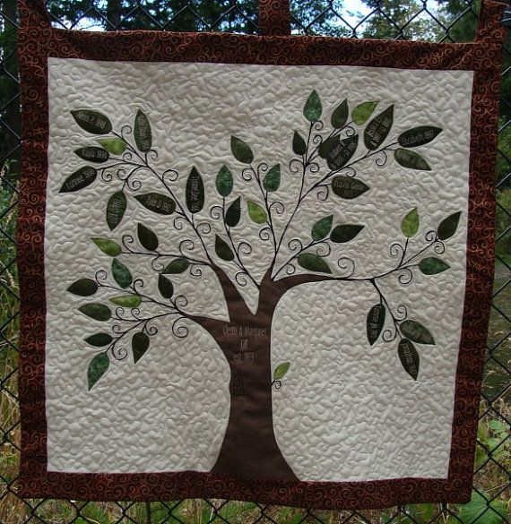 Family Tree Quilt Wall Hanging by SQQuilter on Etsy, $125.00