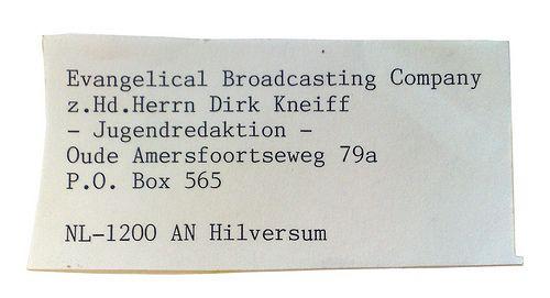 Dirk Kneiff - nog een Duitse, 'De' is hier 'Dirk' geworden
