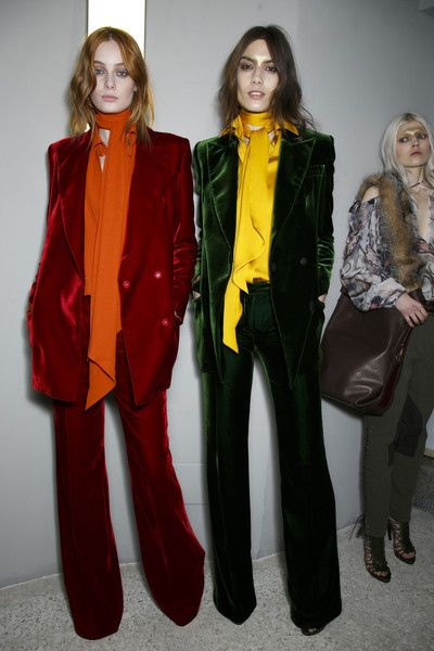 Emilio Pucci Fall 2014 - Backstage Velvet is back for Fall 2014. Prepare yourself to be petted by everyone who passes by.