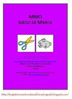 EL BLOG DE L@S MAESTR@S DE AUDICION Y LENGUAJE: MIMO_JUEGO DE MÍMICA