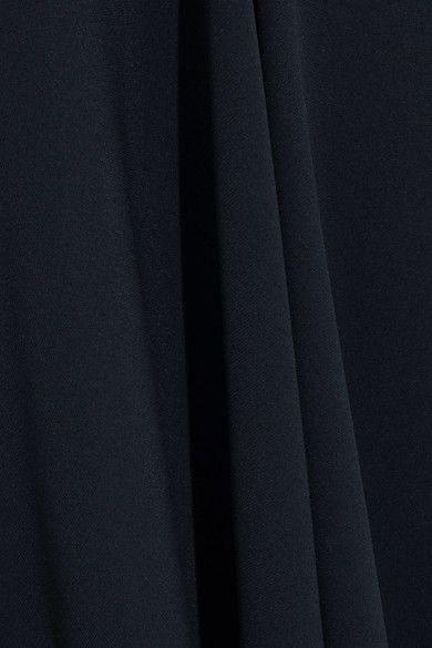 Stella McCartney - Cutout Asymmetric Stretch-cady Dress - Midnight blue