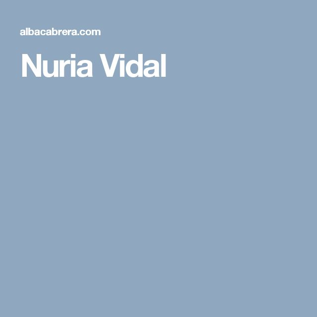Nuria Vidal