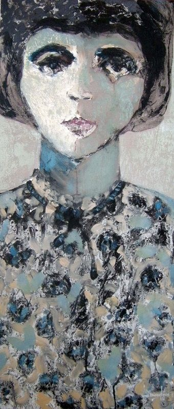 Retrato de mujer 35 cm x 80 cm Óleo-Lienzo 2012 1.500€ #arte #art #artecubano #cubanart #galerías #galleries #pintura #painting #EdelBordon