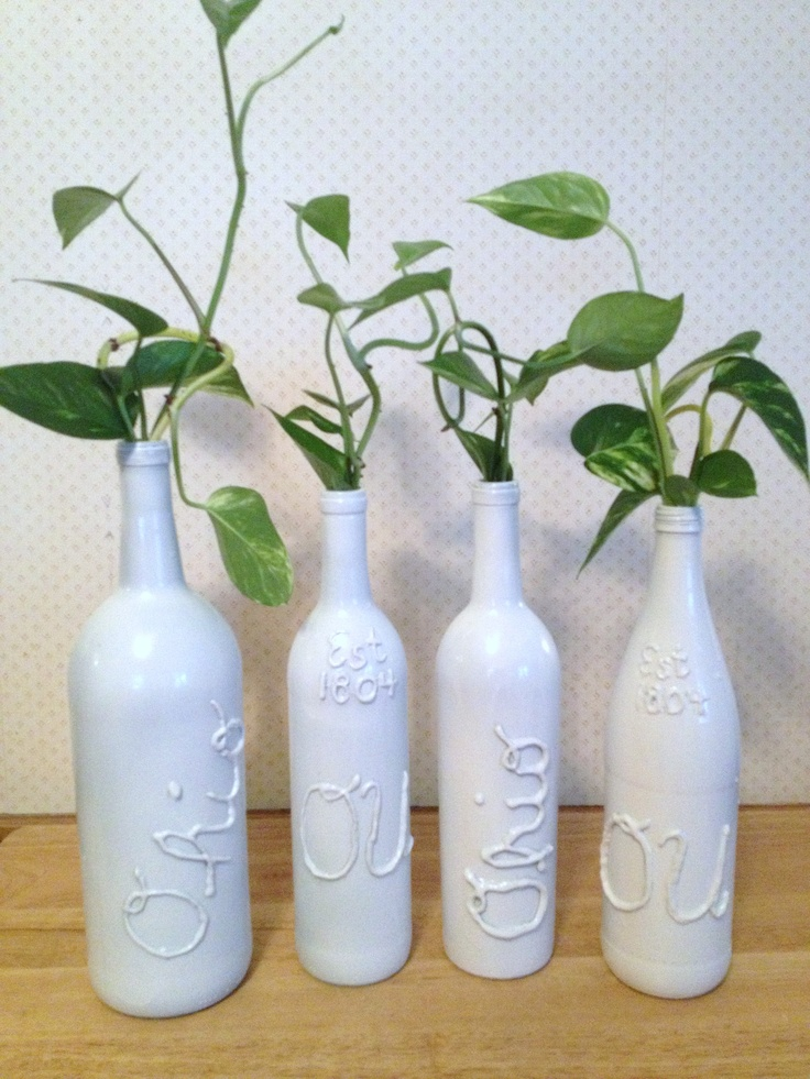 184 best diy wine bottle crafts images on pinterest wine for What to make with empty wine bottles