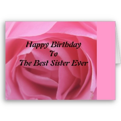 Pink Rose Best Sister Birthday Greeting Card #rosebirthday #birthday