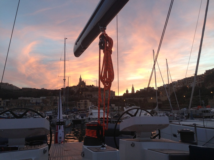 Our beautiful sunset! #sailing #yacht