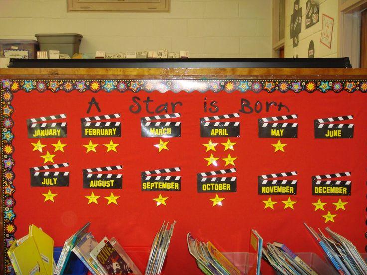 Classroom Decoration Happy Birthday : Oscar worthy birthday bulletin board popcorn and movies