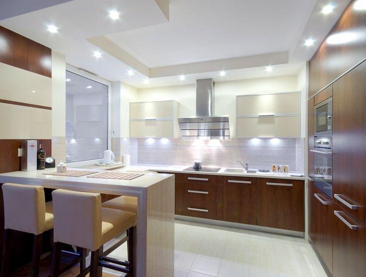 oświetlenie kuchni  Szukaj w Google  pomysły na ścianę i nie tylko  Pinterest -> Drewniana Kuchnia Gourmet World