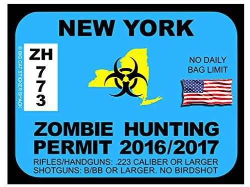 17 best images about zombie hunting permits on pinterest for Fishing license ny