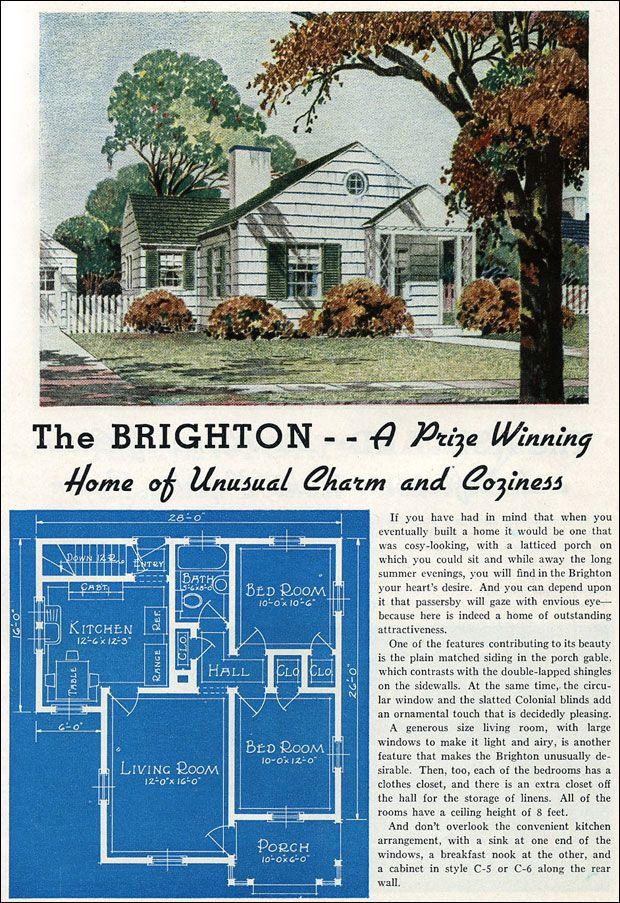 490 best vintage home plans images on Pinterest   Design homes ...
