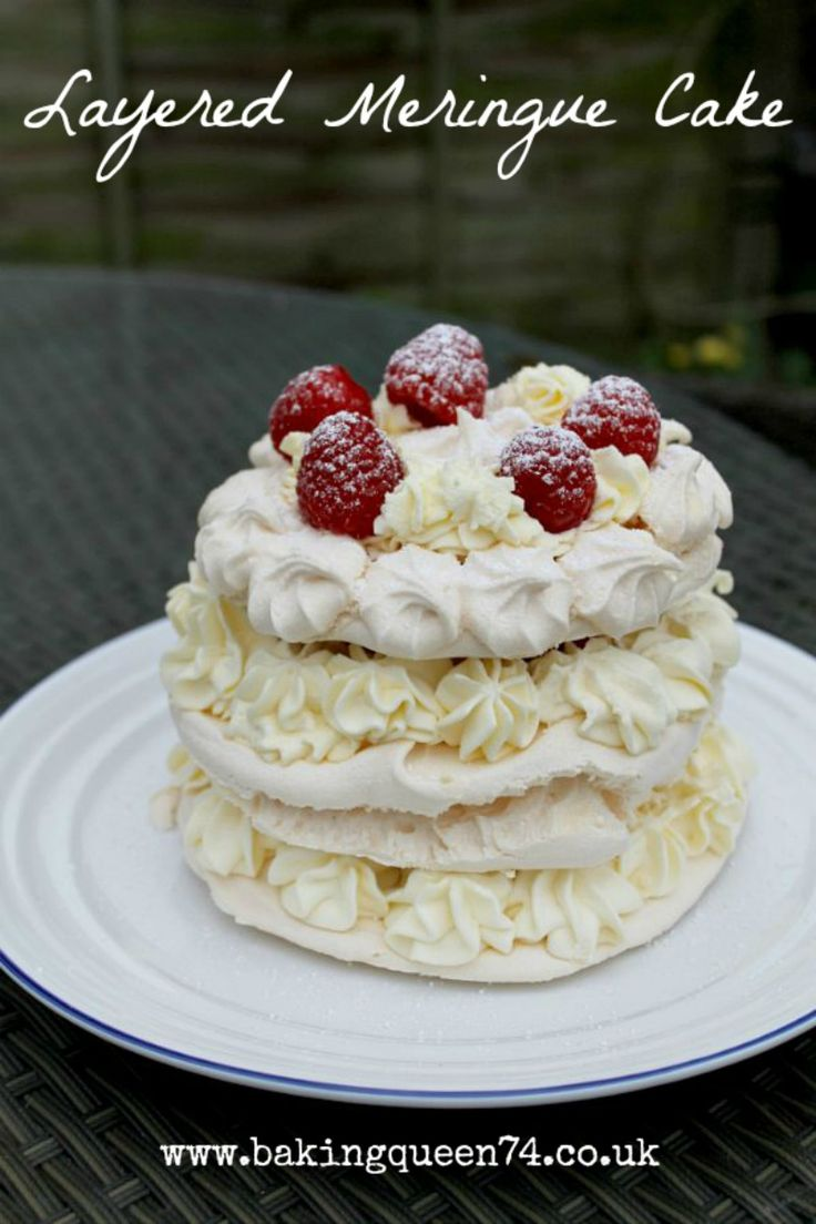 Layered Meringue Cake - a delicious, showstopping dessert, perfect for a summer barbecue!