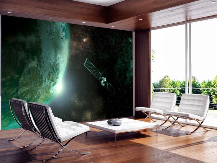 Papier peint moderne Planète verte