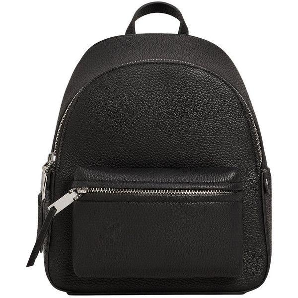 Pebbled Backpack 27 Liked On Polyvore Featuring Bags Backpacks Black Zip Bag Vegan Leather Backpack Vegan Backpack Fak Bags Rucksack Bags Bag Straps