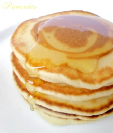 Recette pancakes par Mathilde : Des pancakes épais et moelleux.