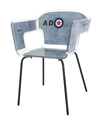 ACRILA Alnoor Chair, Grey at MYHABIT