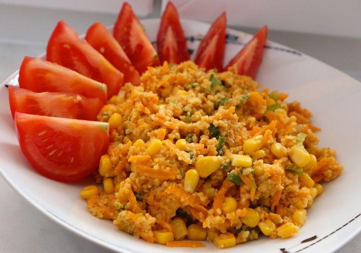 Curry corn couscous.