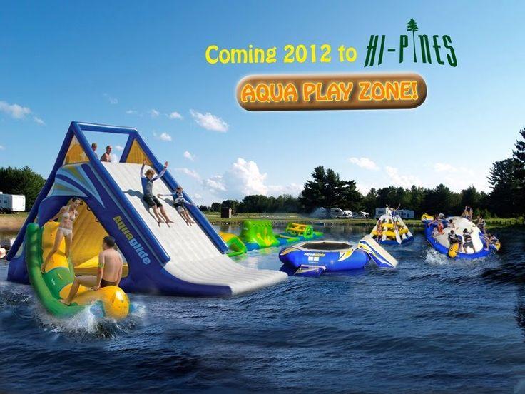 Aqua Play Zone - Hi-Pines Campground in Beautiful Eagle River, WI