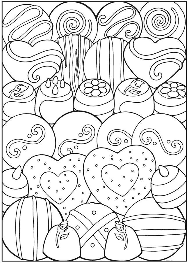 Creative haven vintage christmas greetings coloring book for Sweet treats coloring pages