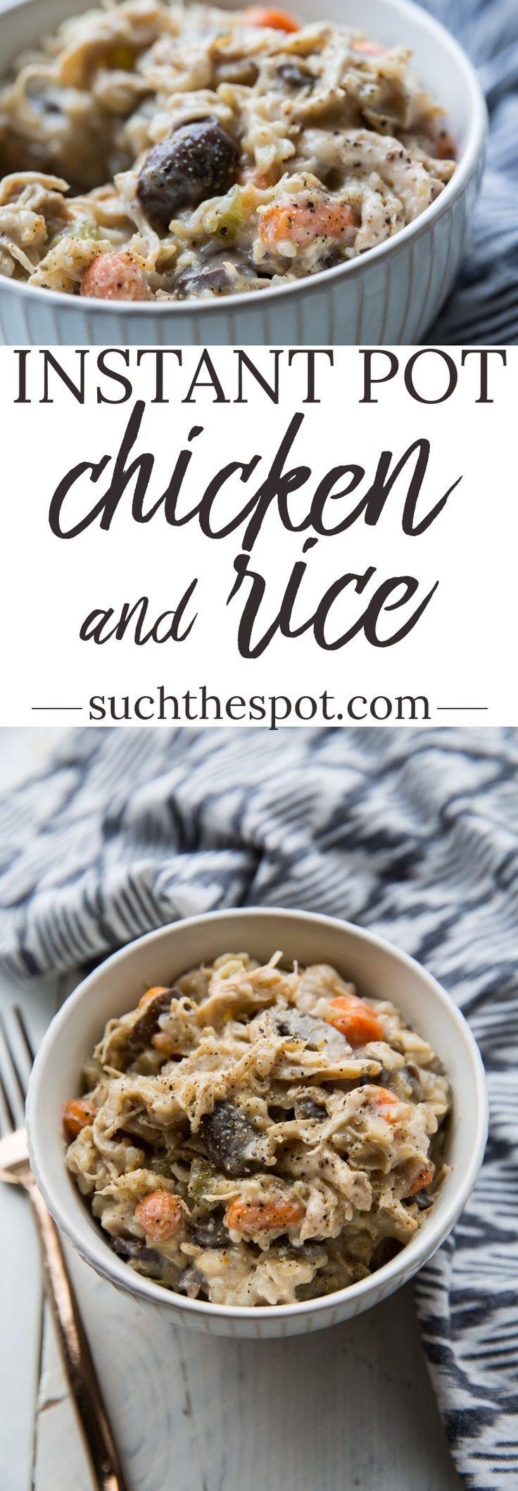 I threw every Chicken and Rice recipe out the window when I discovered this one. This Instant Pot Chicken and Rice is easy, creamy and as delicious and comfort food can get. Inspired by the Cracker Barrel dish, this one is a guaranteed family favorite.