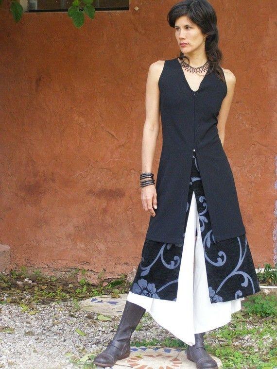 ZIP TUNICwomens tunicWomens vestFall fashionWomens by SHIHAR, $135.00