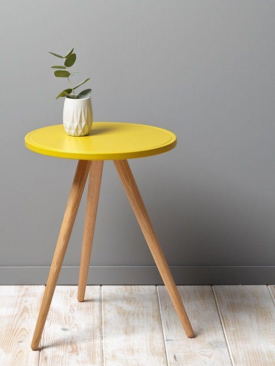 Les Meilleures Images Du Tableau TABLES BASSES SURMESURE - Table pied metal plateau chene pour idees de deco de cuisine