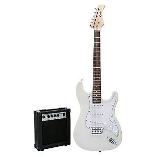 Pack Guitarra Eléctrica White + Amplificador 10W