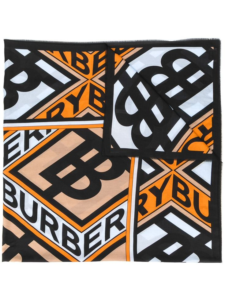 Burberry Graphic Logo Scarf in 2020 Logo pattern