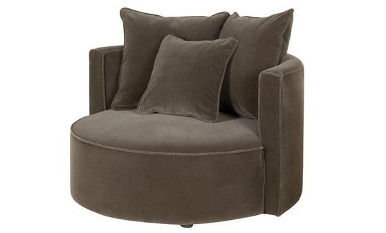Petit fauteuil Vénus 99 cm  tissu, velours ou microfibres