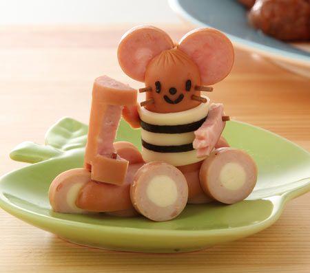 ショベルカー – ウィンナーの飾り切り | e-お弁当作っちゃいました!