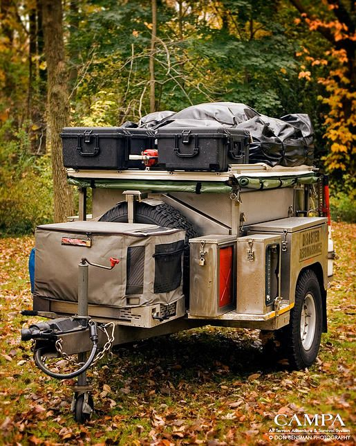 Campa USA | All Terrain Trailers | Camping Trailer | storage