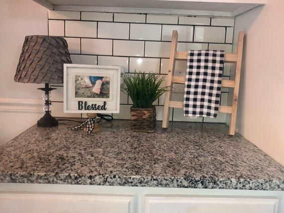 Elegant Farmhouse Style Countertop Towel Rack To Bring Any Kitchen Or Bathroom To Life A Captivating Style That Will Add Eleganc Decor Countertops Home Decor