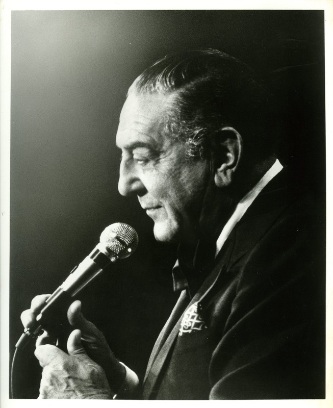 Vintage December 31, 1974, Guy Lombardo celebrates his 45th New Year's Eve at the Waldorf-Astoria, NYC, www.RevWill.com