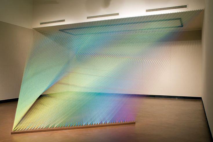 plexus 12 | gabriel dawe ( polychromatic thread sculptures ) | photo by carlos aleman