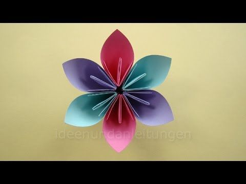 youtube origami pinterest basteln mit papier blumen basteln ve basteln. Black Bedroom Furniture Sets. Home Design Ideas