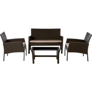Rattan Low Level Garden Furniture Set
